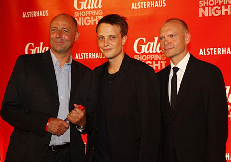 GALA Shopping Night: die Gastgeber GALA-Chefredakteur Peter Lewandowski (links) und Sven Zahn (Geschäftsführer Alsterhaus, recht