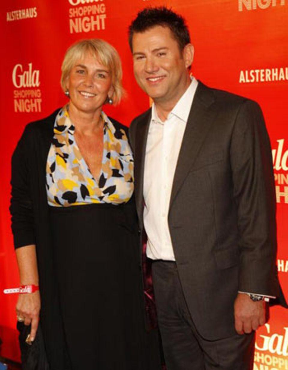 GALA Shopping Night: Jens Riewa in Begleitung von Manuela Lundgren