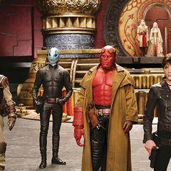 Das ganze Team auf einen Blick: Johann, Abe, Hellboy und Liz