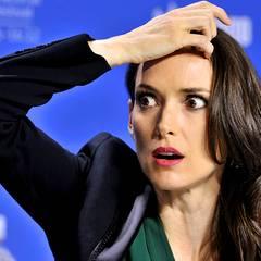 """Toronto International Film Festival: Winona Ryder zeigt bei der """"The Iceman""""-Pressekonferenz ihr schönstes Grimassen-Repertoire."""