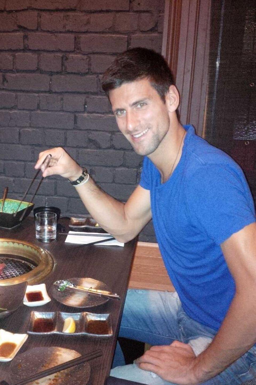 Der Tennisprofi Novak Djokovic freut sich auf sein japanisches BBQ.