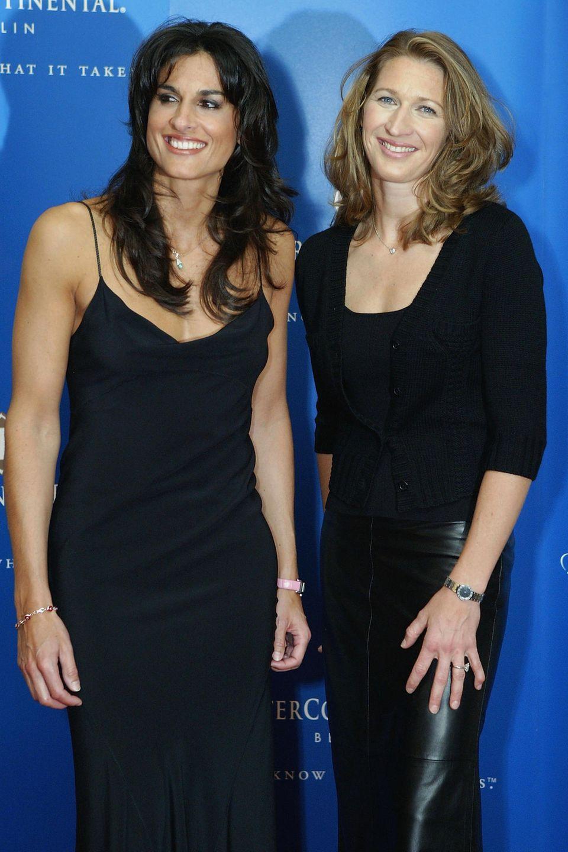 25. September 2008: Die zwei Tennisgrößen Steffi Graf und Gabriela Sabatini treten nochmal für den guten Zweck in einem Charity-