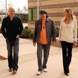 4. Februar 2010: Andre Agassi, Santana und Steffi Graf machen sich auf zu der College Preparatory Academy.