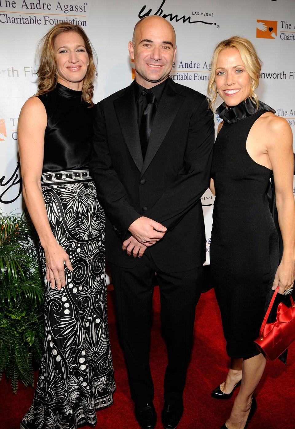 11. Oktober 2008: Steffi Graf, Andre Agassi und die Sängerin Sheryl Crow treffen in Las Vegas auf einem Charity-Konzert zusammen