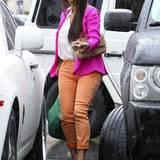 Kim Kardashian kommt in Calabasas in einen Regenschauer.