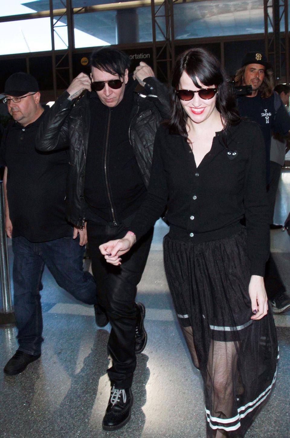 Marilyn Manson landet in Los Angeles.
