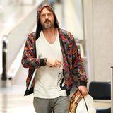 David Arquette sieht müde aus nach seiner Ankunft in Los Angeles.