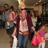 Eine ganz normale Familie: Katherine Heigl, Josh Kelley und ihre zwei Kinder sind am Flughafen in Los Angeles entdeckt worden.