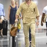 Liev Schreiber wird am JFK Flughafen in New York gesehen.