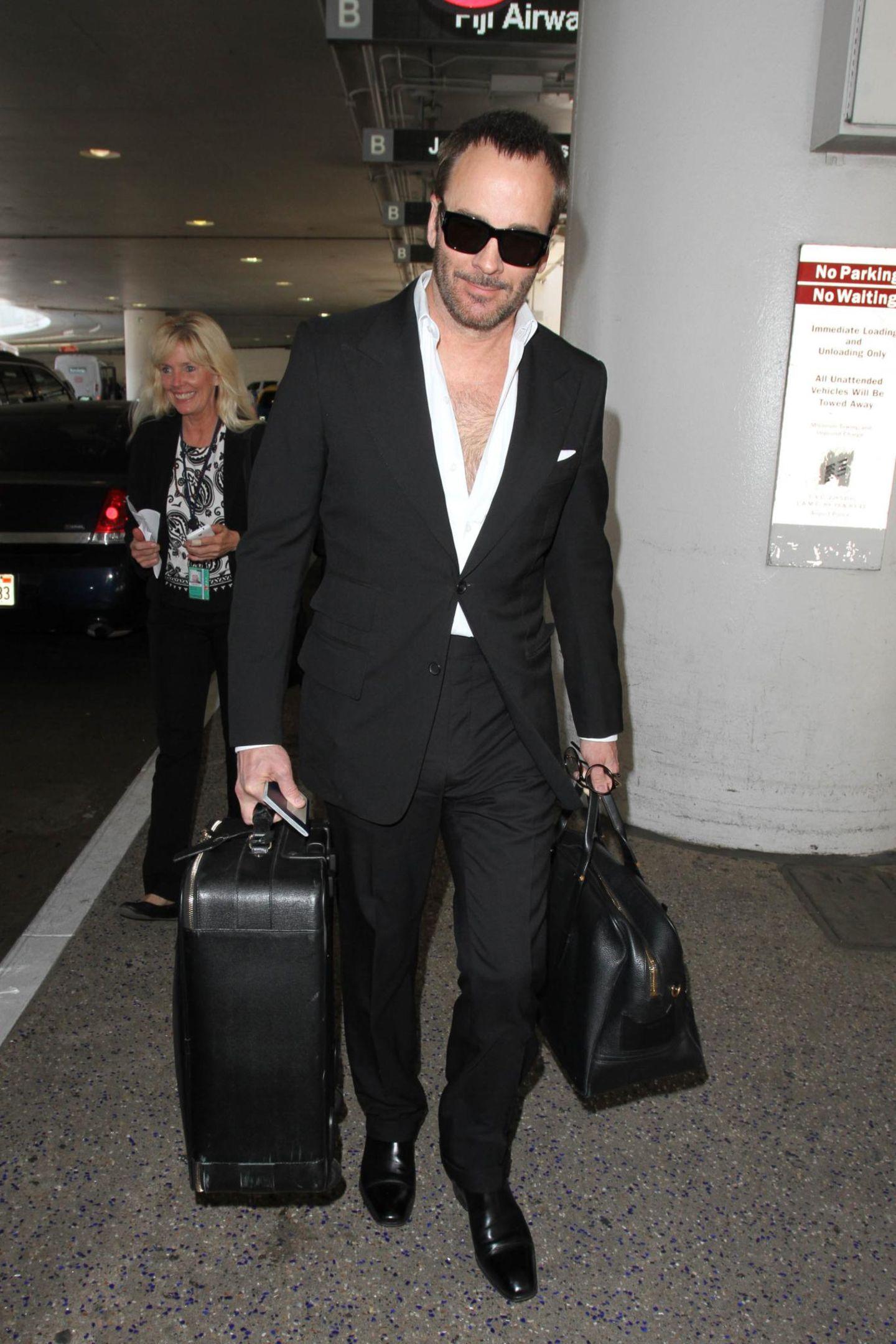 Tom Ford kommt in Los Angeles an und hat alle Hände voll.