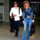 Vito Schnabel und Heidi Klum landen gemeinsam am Flughafen von Nizza.