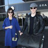 """Sophie Hunter und Benedict Cumberbatch haben gerade erst geheiratet, da fliegen sie von London nach Los Angeles. Honeymoon? Fehlanzeige, der """"Sherlock""""-Star muss arbeiten und hat einen Auftritt bei """"Jimmy Kimmel""""."""