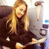 Alessandra Meyer-Wölden ist mal wieder unterwegs: Wohin die Flugreise wohl diesmal geht?