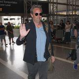 Matthew Perry ist kurz vor seinem Abflug in Los Angeles bestens gelaunt.