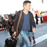 """""""Game of Thrones""""-Star Nikolaj Coster-Waldau kommt am Flughafen von Los Angeles an."""
