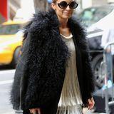 Nicole Richie ist mit einem flauschigen Fellmantel in New York unterwegs.