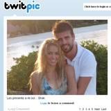 März 2011: Shakira twittert dieses Bild von sich und Gerard Piqué.