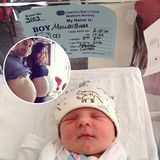 """Februar 2014: Jason Biggs und seine Frau Jennifer Mollen freuen sich über ihr erstes Baby. Ihr Sohn Sid ließ sich ganz schön Zeit, er kam fast zwei Wochen nach dem eigentlichen Geburtstermin im """"Cedars-Sinai Medical Center"""" in Los Angeles zur Welt."""