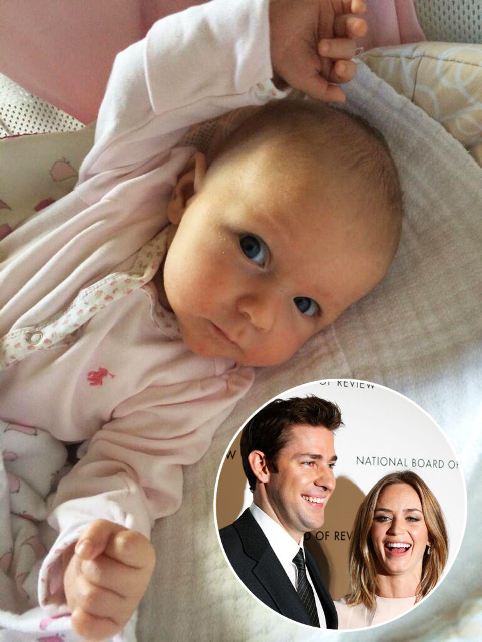 Mai 2014: Mitte Mai veröffentlicht John Krasinski über Twitter das erste Bild seiner Tochter Hazel. Mutter der Kleinen ist Schauspielerin Emily Blunt, das Paar ist seit 2010 verheiratet. Am 16. Februar krönte nun die Geburt der gemeinsamen Tochter ihre Liebe.