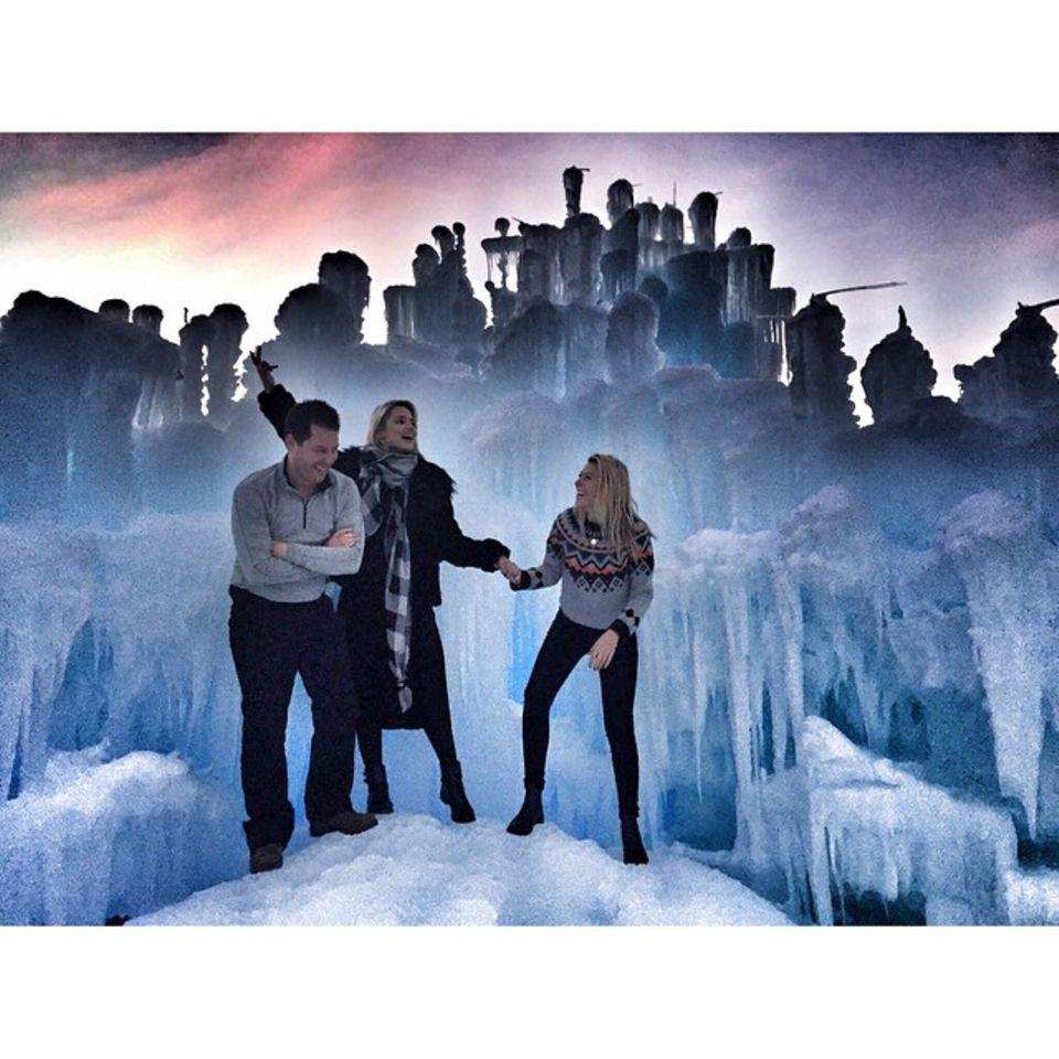 Ist Dianna Agron etwas die neue Eiskönigin? Dieses Naturspektakel darf sie live erleben.