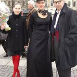 """""""Mimi"""" heißt das schräge Berliner Trio, das für die üppigen Accessoires auf den Model-Köpfen der Scherer González-Show sorgte"""