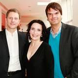 Lars Schöneweiß (JOOP!) und Muriel Portier (Chantelle) mit GALA-Anzeigenleiter André Pollmann
