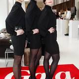"""Die Hostessen empfingen die Gäste des """"GALA""""-Fashion-Brunch in Kleidern von St. Emile"""