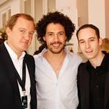 Das Maybelline-Jade-Trio: Holger Quernheim und Akim Balla nahmen Star-Visagist Boris Entrup in die Mitte