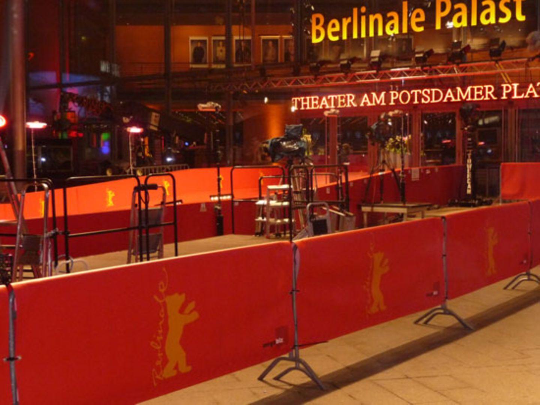 Nach jeder Premiere wird es rund um den roten Teppich vorm Berlinale-Palast sehr schnell wieder ganz öde