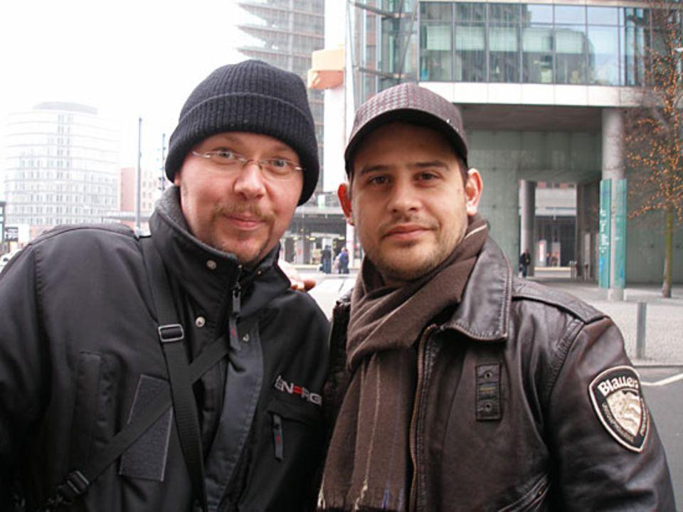 Udo Renken hat an diesem Tag noch mehr Glück und begegnet Moritz Bleibtreu auf der Straße