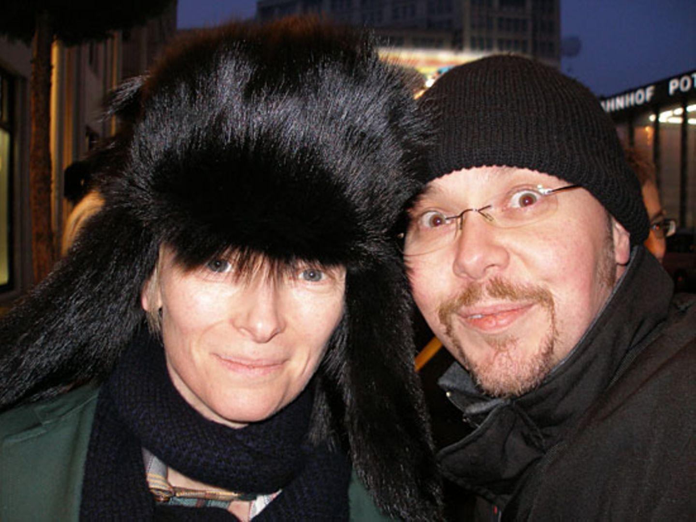 Später gelingt dem Autogrammjäger dann noch dieses Foto: Tilda Swinton und Udo Renken
