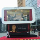 """Der Kosmetikkonzern """"L'Oréal"""" hat auf dem Potsdamer Platz sein eigenes Schminkstudio zur Berlinale eingerichtet"""