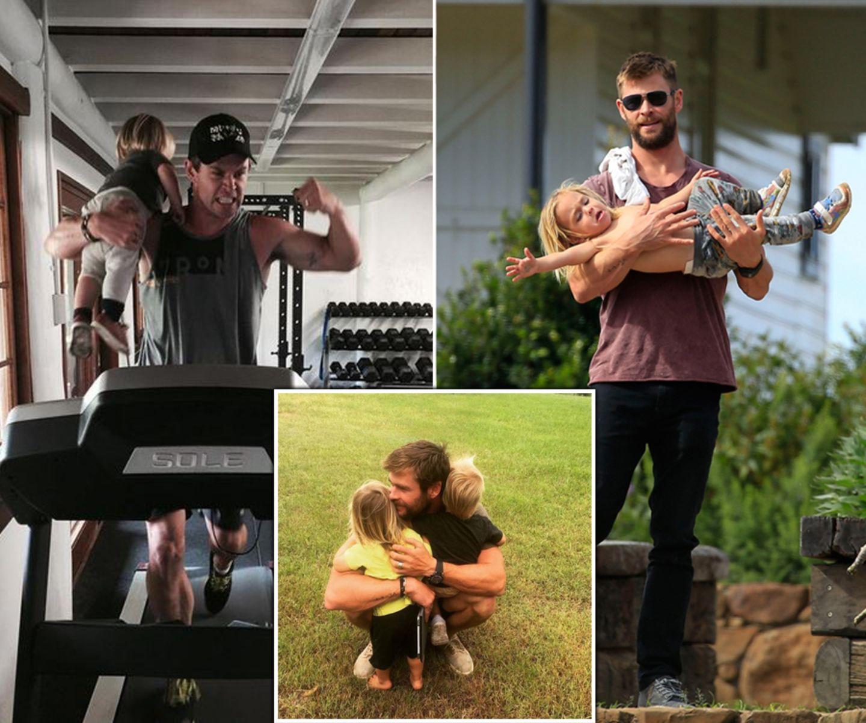 Schauspieler Chris Hemsworth ist am 11. August 2016 33 Jahre alt geworden. Wir gratulieren dem sexy Superpapa und zeigen zum Geburtstag seine besten Fotos mit den Kids.