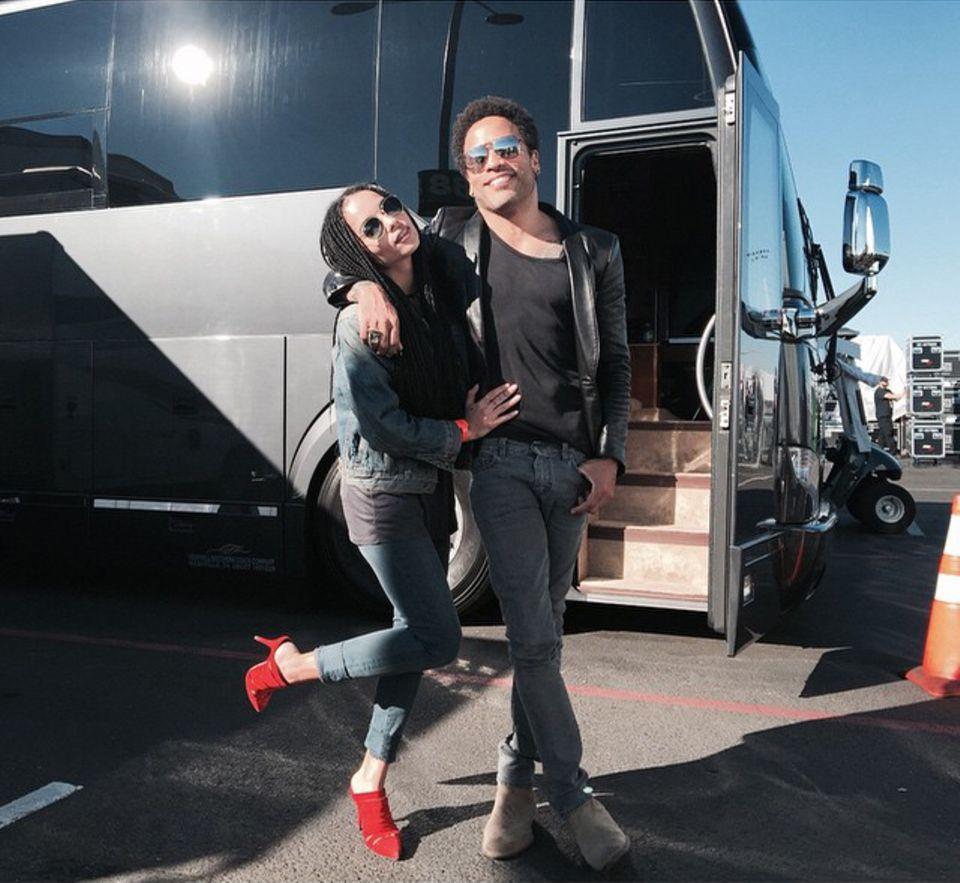 """Zoe Kravitz ist stolz auf ihren Vater: Lenny Kravitz darf beim """"Super Bowl"""" in der Pause auftreten."""