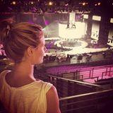 Heidi Klum probt für die Finalshow, die live in Köln stattfindet.