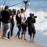 """Heidi Klum dreht mit ihren Schützlingen am Strand in Los Angeles für die neunte Staffel von """"Germany's Next Topmodel"""". Die neuen Folgen der beliebten Model-Show werden ab Februar 2014 auf ProSieben zu sehen sein."""
