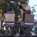 """15. Januar 2013: Heidi Klum steht in Los Angeles für die neue Staffel von """"Germany's Next Topmodel"""" vor der Kamera."""