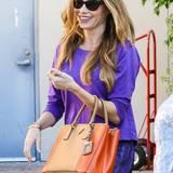 Ihre orange-braune Prada-Tasche mag Sofia Vergara derzeit scheinbar gar nicht mehr loslassen.