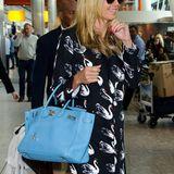 Heidi Klums hellblaue Birkin-Bag ist nicht nur der Farbe wegen ein Hingucker.