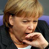 Auch Bundeskanzlerin Angela Merkel kann ihre Langeweile im Bundestag nicht immer verbergen.