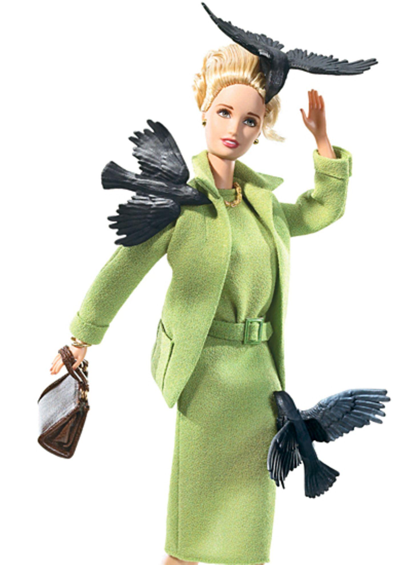 "Gruselig! Barbie als Tippi Hedren in Hitchcocks Horrorfilm ""Die Vögel"""