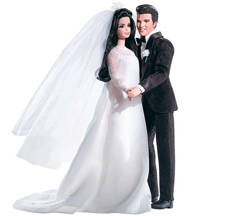 Ken und Barbie? Nicht ganz, das hier sind Elvis und Priscilla Presley bei der Hochzeit