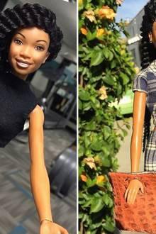 Schönheits-OPs: Die Barbie von Sängerin Brandy hat sogar einen eigenen Instagram-Account auf dem man das Puppenleben der Rapperin beim Sport oder bei einem Ausflug verfolgen kann.
