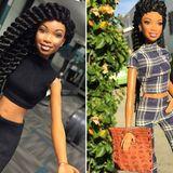 Barbie: Die Barbie von Sängerin Brandy hat sogar einen eigenen Instagram-Account auf dem man das Puppenleben der Rapperin beim Sport oder bei einem Ausflug verfolgen kann.