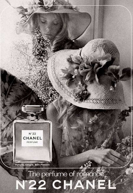 """Romantische Anmutung von Fotograf David Hamilton für das Parfüm """"Chanel N°22"""" in Amerika aus dem Jahr 1971"""