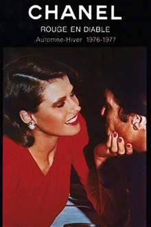"""Werbung für den Lippenstift """"Rouge en diable"""" von """"Chanel"""" aus dem Jahr 1977"""