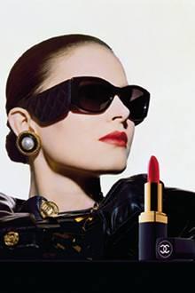 """Werbung für """"Rouge à Lèvres Hydrabase"""" mit Patricia van Rickeghem"""