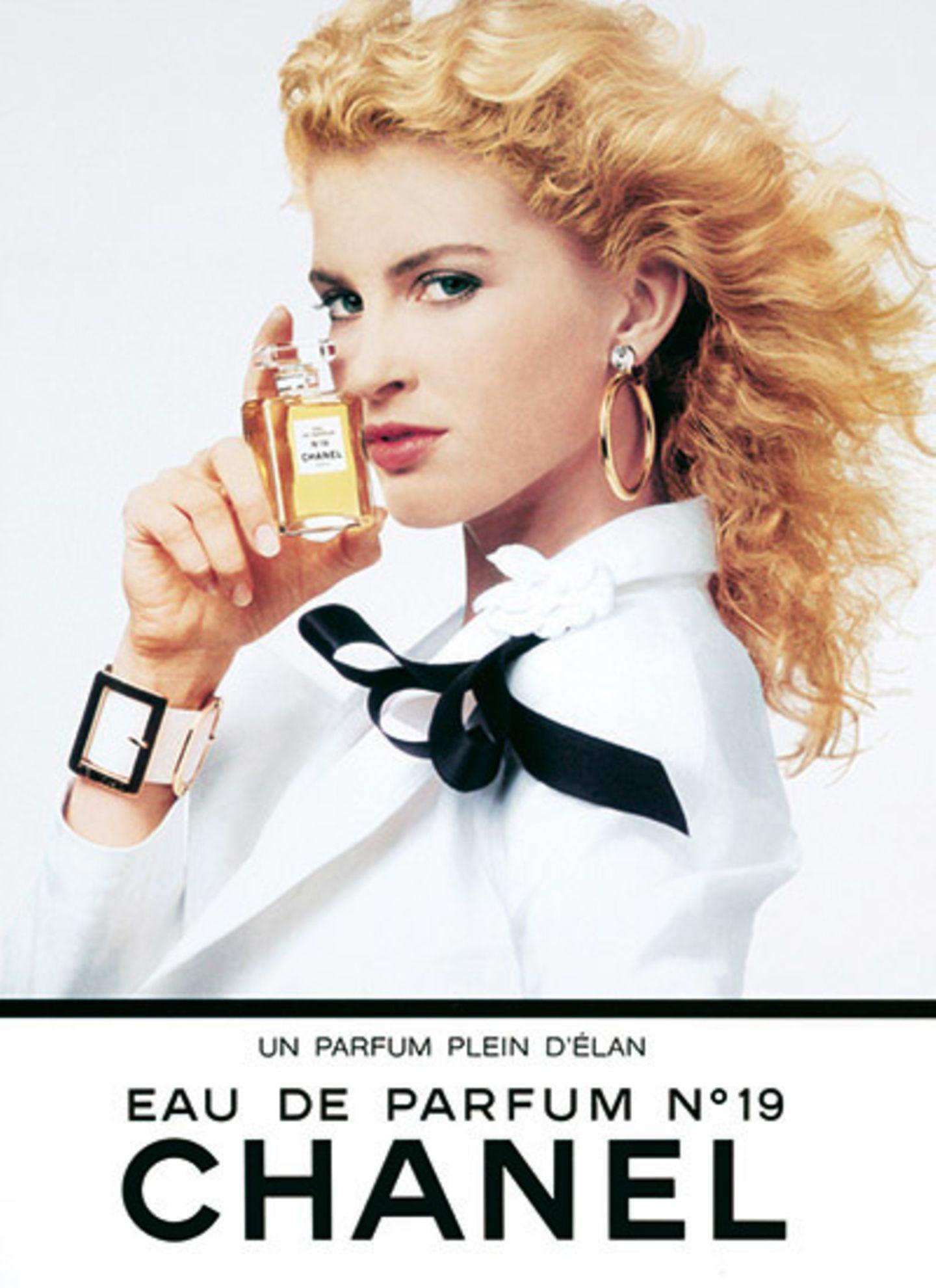 """Anna Witworth für das Parfüm """"Chanel N°19"""" im Jahr 1988"""