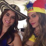 Sofia und Mariana Vergara  Die beiden Schönheiten freuen sich über jedes Event, welches die beiden zusammen führt.