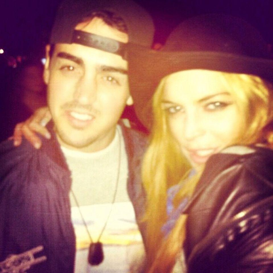 Lindsay und Michael Lohan  Drei Tage vorher haben sie sich noch gesehen, doch Lindsay Lohan vermisst schon wieder ihren Bruder und postet dieses Foto auf Instagram.